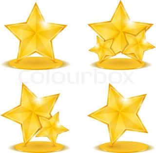 320x313 Golden Stars Stock Vector Colourbox
