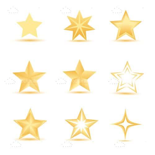 500x500 Golden Stars Icon Set