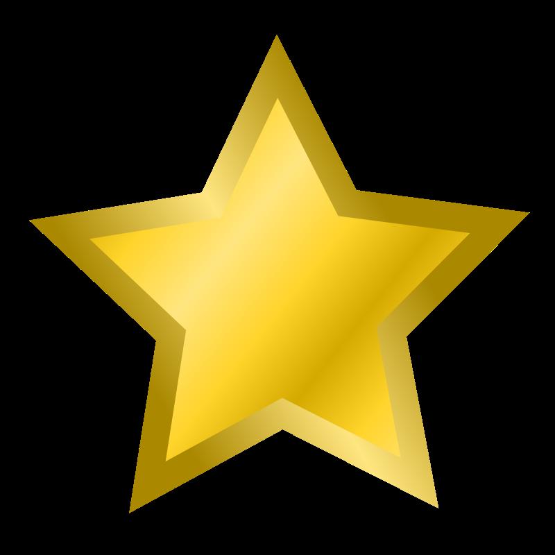 800x800 Golden Clipart Gold Star