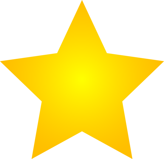 550x534 Golden Clipart Shining Star