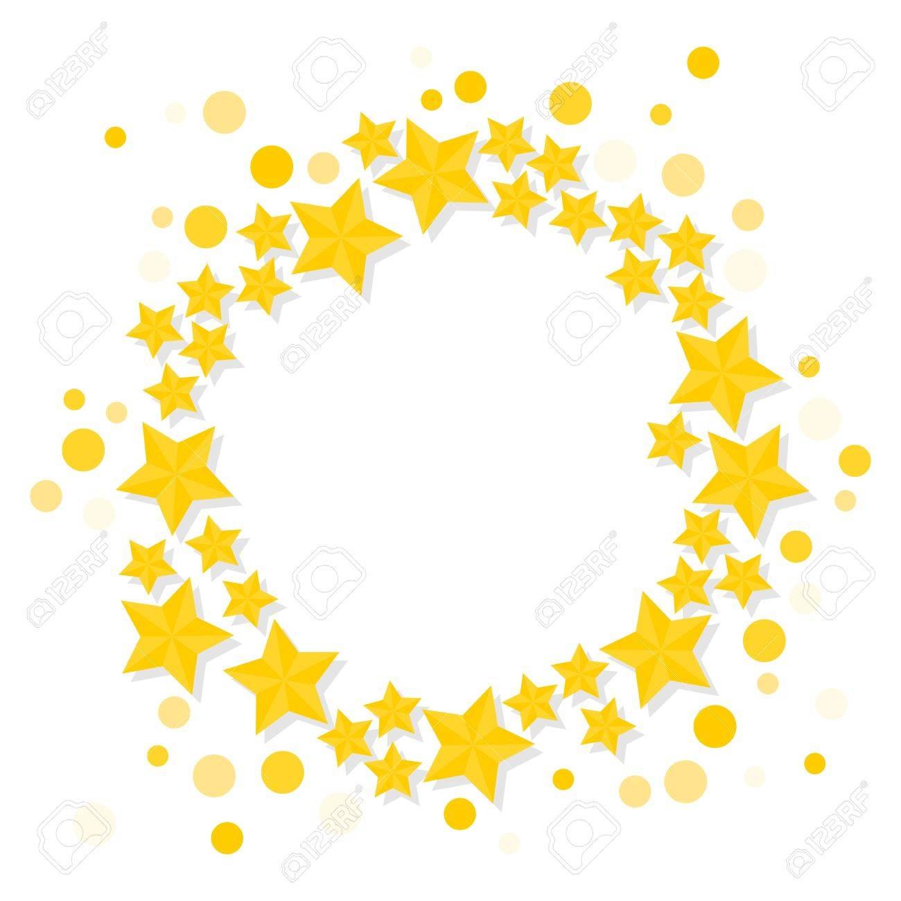 1300x1300 Bright Shiny Golden Stars Wreath Small Medium Big Elements
