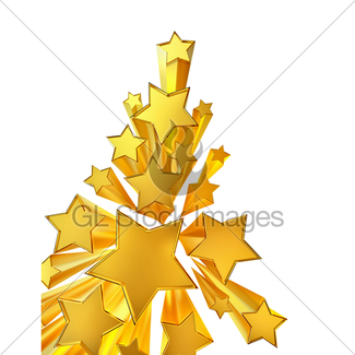 325x325 Moving Golden Stars On Brown Background Gl Stock Images
