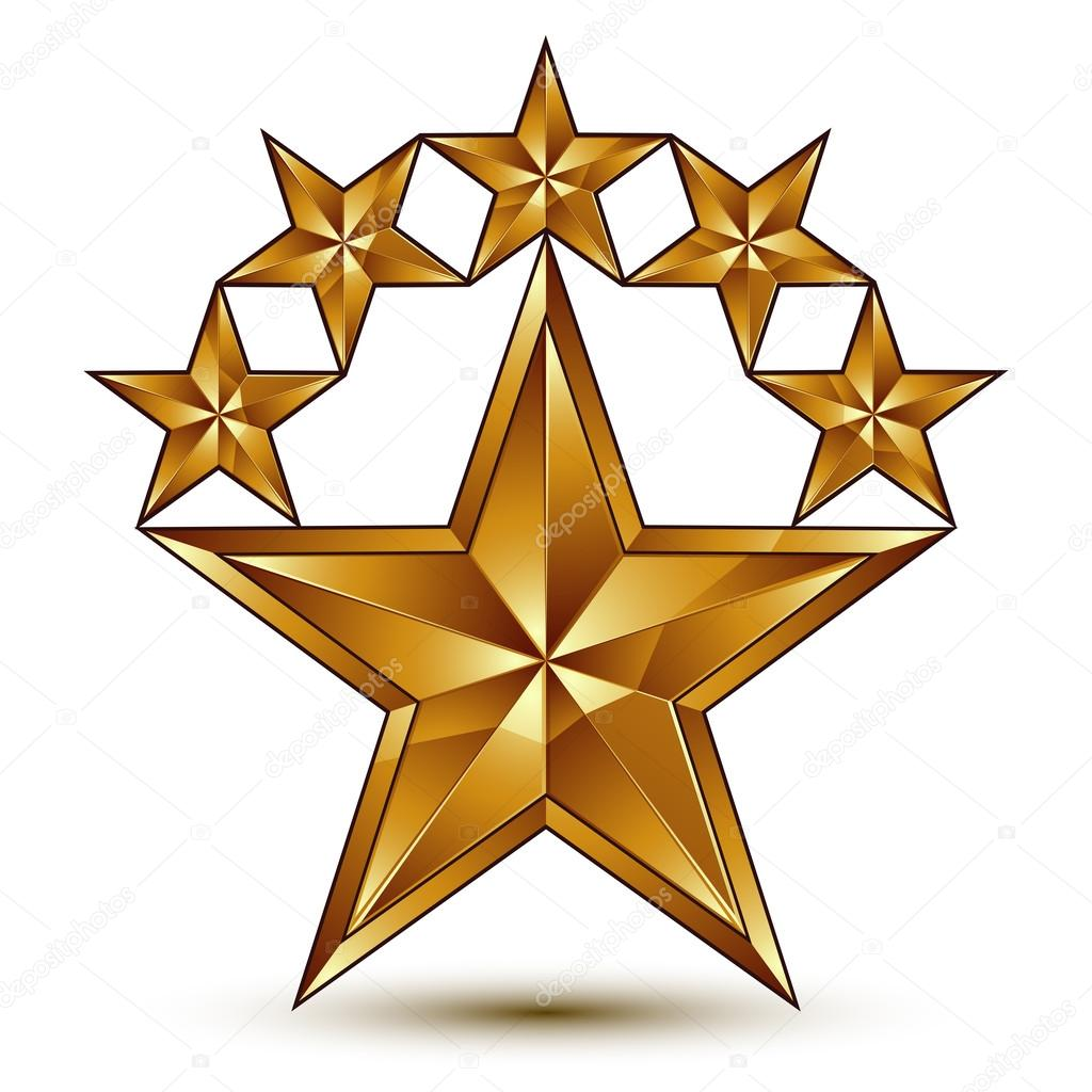 1024x1024 Pentagonal Golden Stars Symbol Stock Vector Ostapius