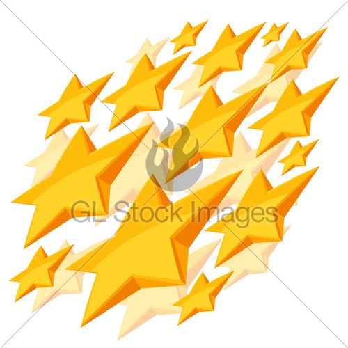 500x500 Shiny Golden Stars Falling On White Background Gl Stock Images