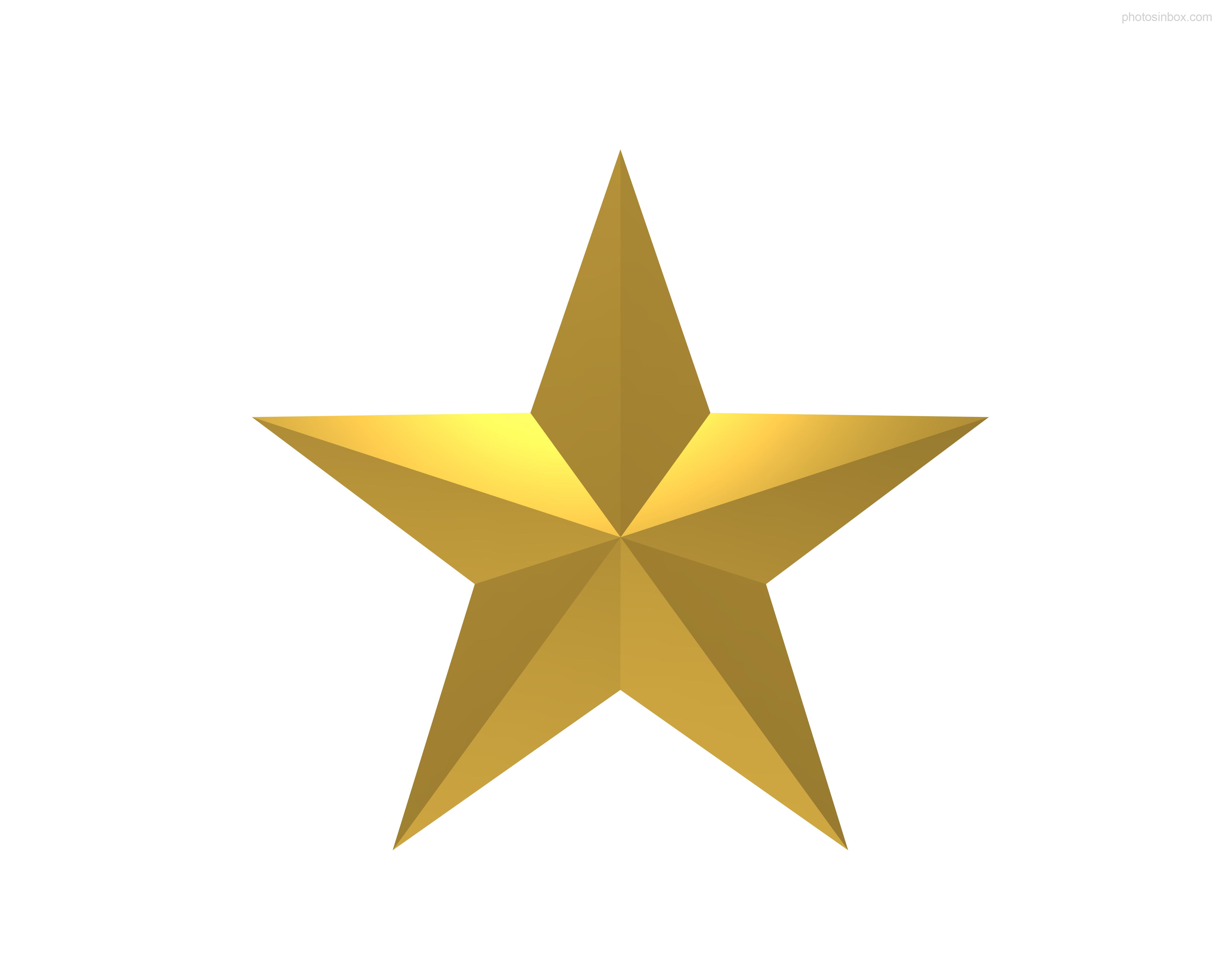 5000x4000 Stars Clipart Golden
