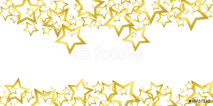 700x350 Border With Golden Stars Wall Mural We Live To Change