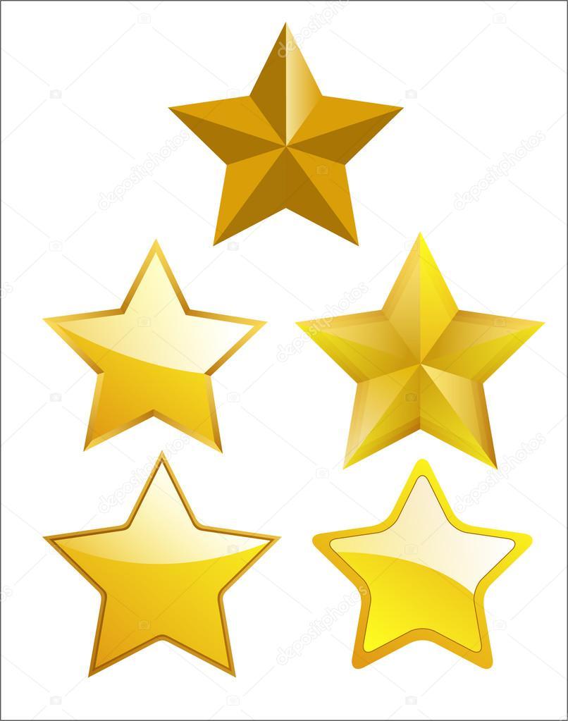 806x1023 Conjunto De Estrellas Doradas Vector De Stock Baavli