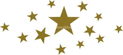 500x223 Stars Royalty Free Vectors