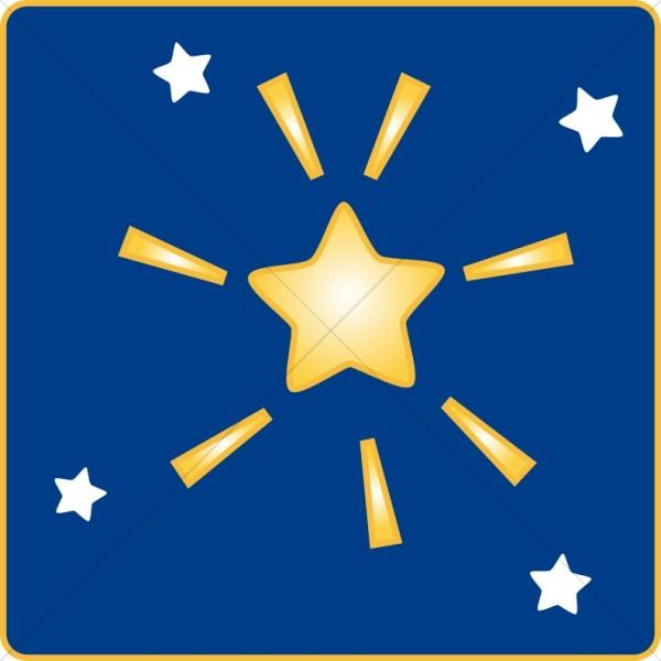 600x600 Cluster Of Stars Christian Star Clipart