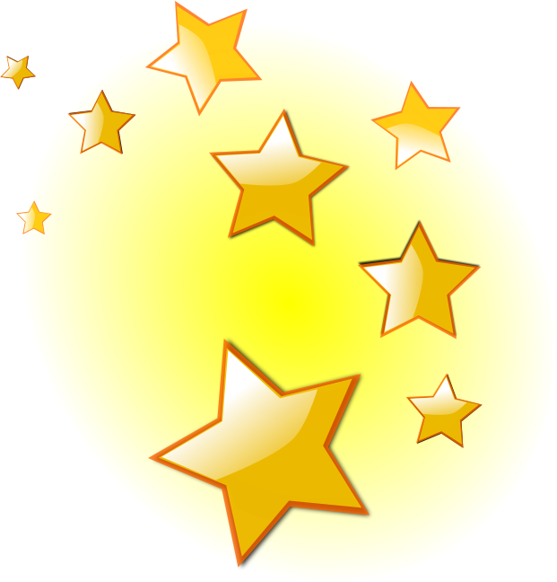 621x648 Golden Christmas Star Png
