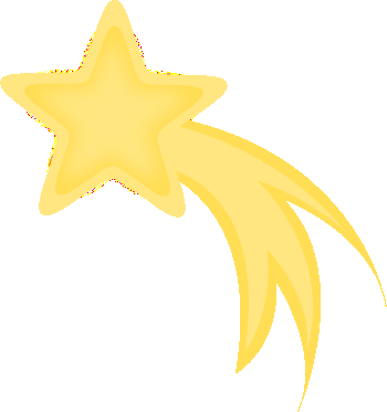 350x373 Golden Clipart Shooting Star