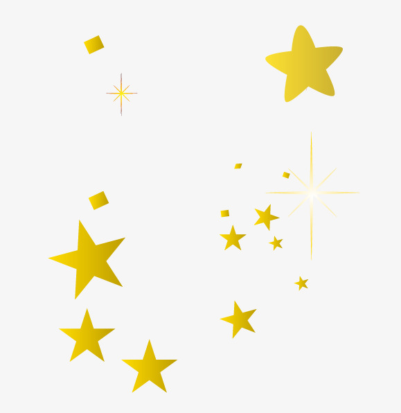 579x596 Vector Gold Star, Star, Golden, Hand Painted Stars Png And Vector