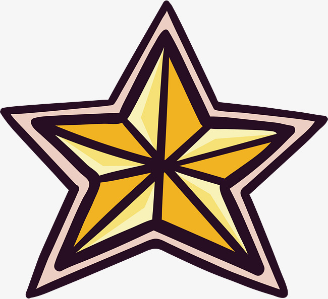 650x594 Golden Five Pointed Star, Vector Png, Stars, Golden Star Png