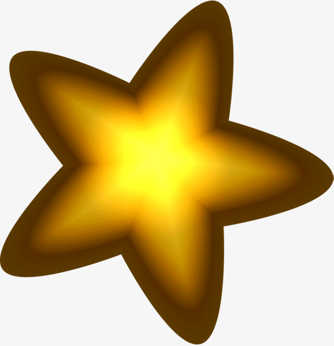 650x673 Golden Star, Beautiful Stars, Golden Halo, Illusion Halo Png Image