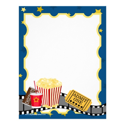 512x512 Popcorn Template Movie Ticket Popcorn Cinema Party Birthday
