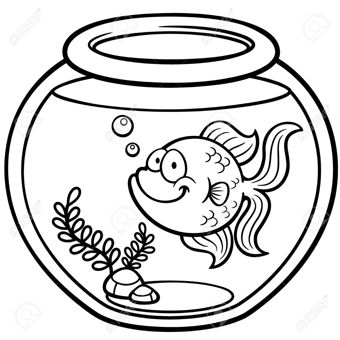 Goldfish Clipart Black And White Free Download Best Goldfish