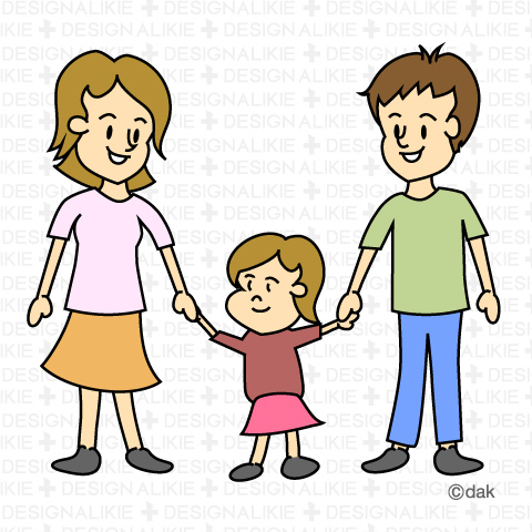 480x480 Family Of Three Clip Art
