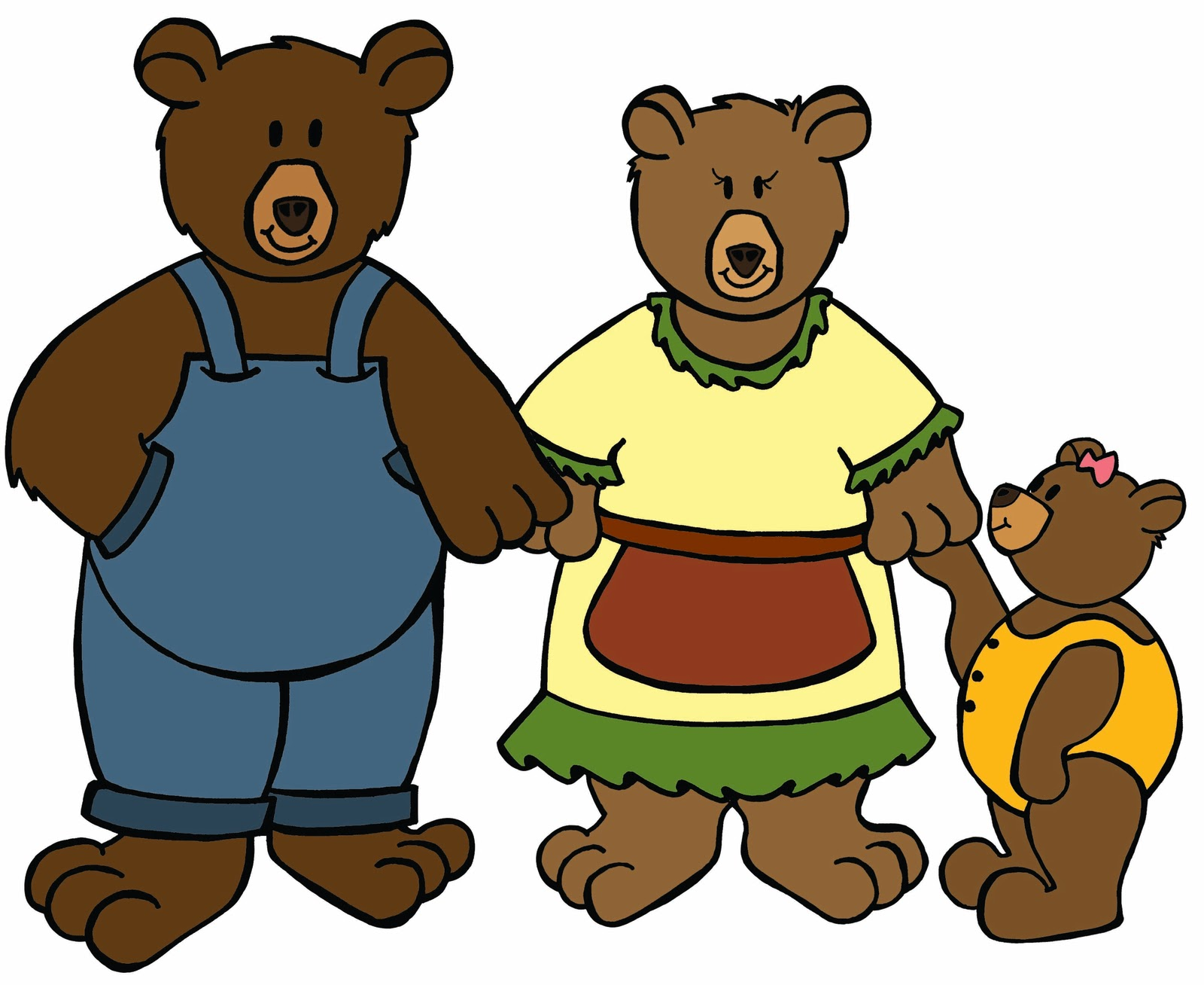 1600x1308 Goldilocks And The Three Bears Clipart Goudlokje En