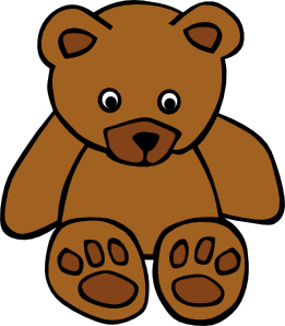 261x298 Simple Teddy Bear Clip Art