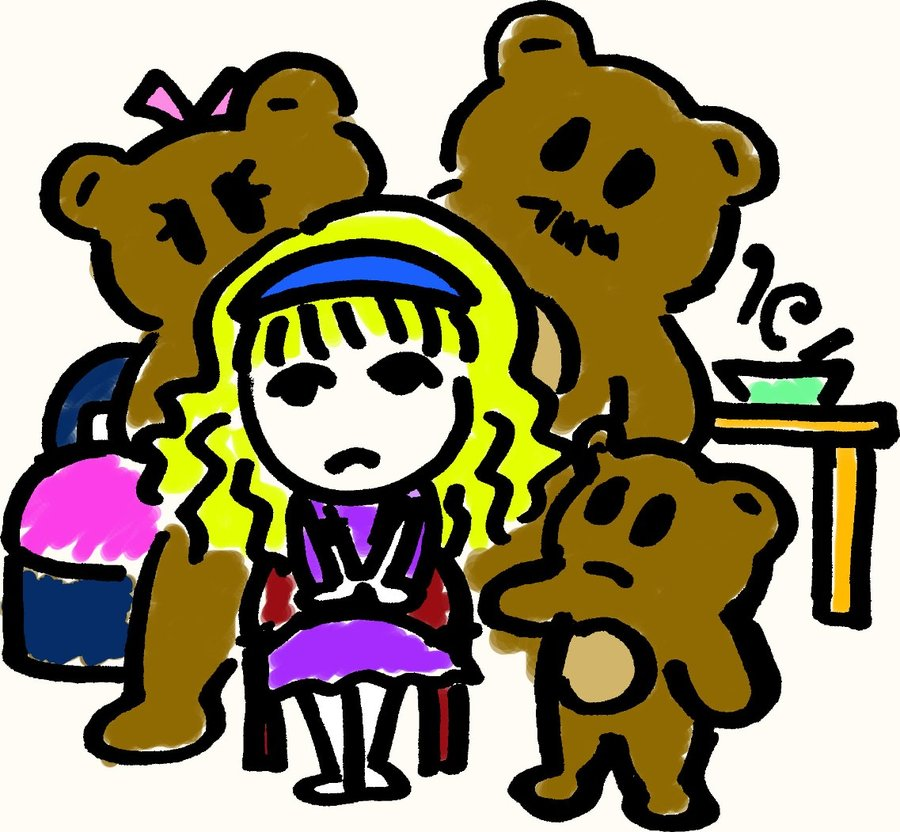 900x832 Goldilocks And The Three Bears By Psychoafro