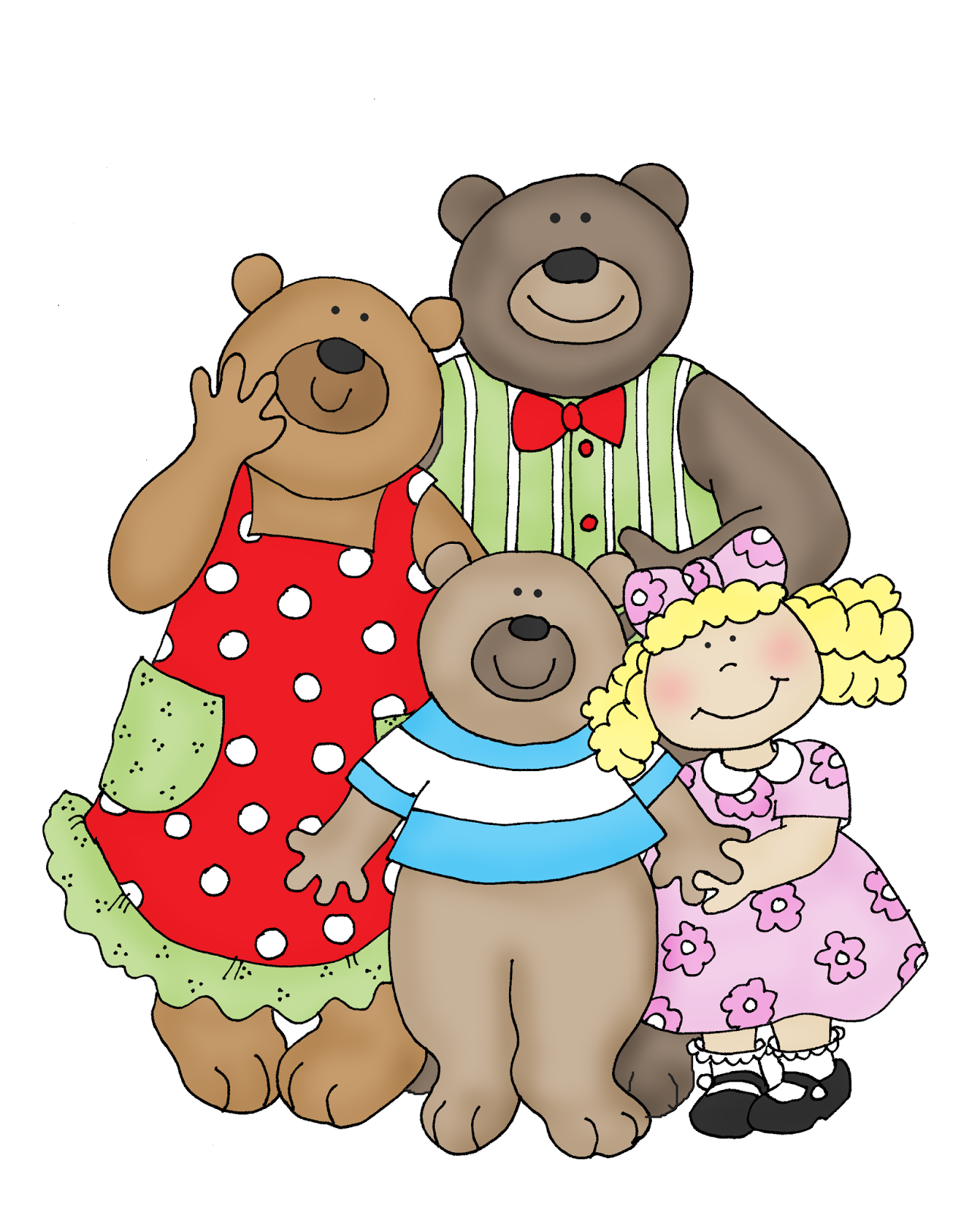 1294x1600 Bear Clipart Goldilocks