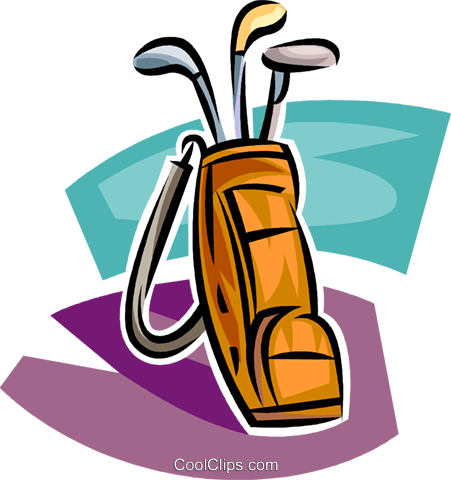 451x480 Golf Vector Clipart Of A Golf Bag With Clubs Golf