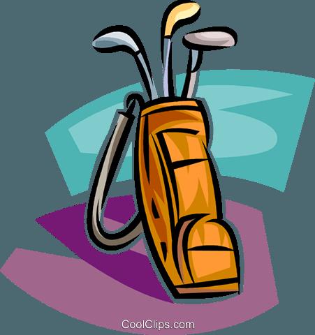 451x480 Golf Vector Clipart Of A Golf Bag With Clubs Golf