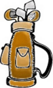 181x300 Clipart Golf Clubs And Bag
