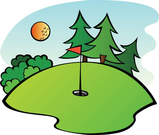 550x468 Clipart Of Golf