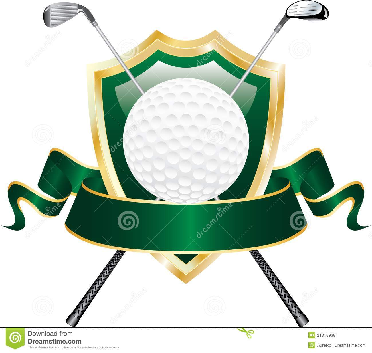 Golf Ball Cartoon Clipart