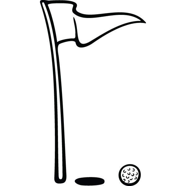 600x600 Golf Ball Amp Flag Hole Sports Art For Custom Gifts Amp Products