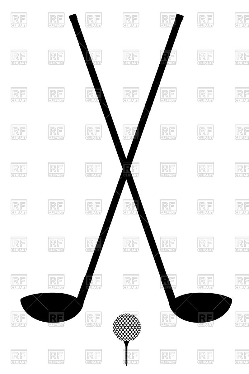 800x1200 Golf Club And Ball Silhouette Isolated On A White Background