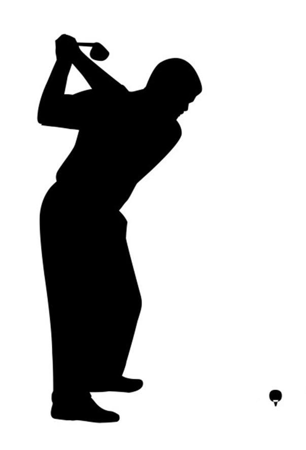 603x886 Golfer Swinging Clipart
