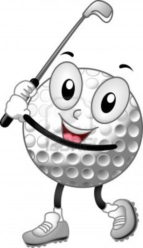 600x1038 Cartoon Golf Ball