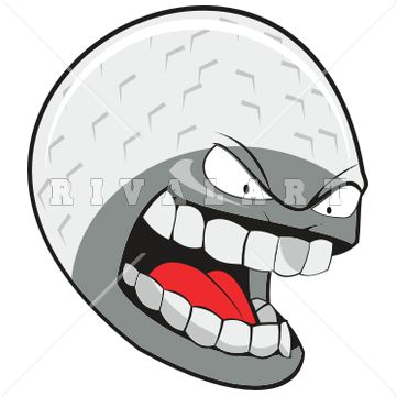 Golf Ball On Tee Clipart