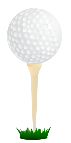 250x500 Golf Ball Ready For Drive Clip Art Download
