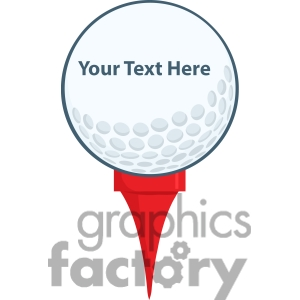 300x300 5696 Royalty Free Clip Art Golf Ball With Tee Picture Perfect