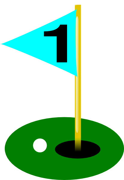 414x599 Golf Ball Golf Flag 1st Hole With Ball Clip Art