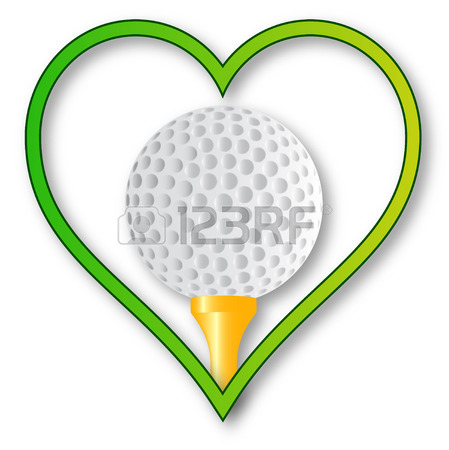 449x450 A Golf Ball And Tee Set Into A Heart Over A White Background