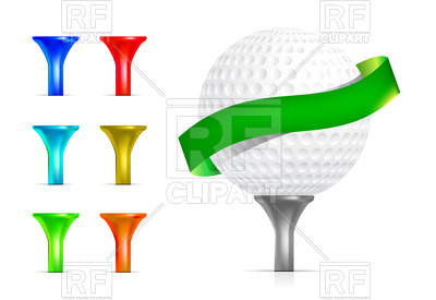 400x275 Golf Ball With Tee Royalty Free Vector Clip Art Image