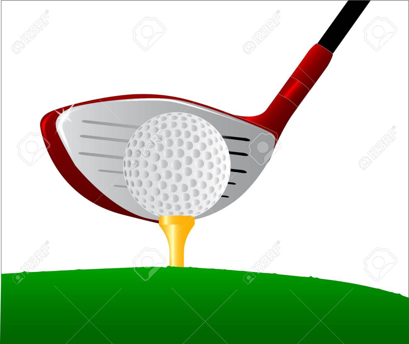 1300x1094 A Golf Ball Placed On Top Of A Golf Ball Tee With The Driver