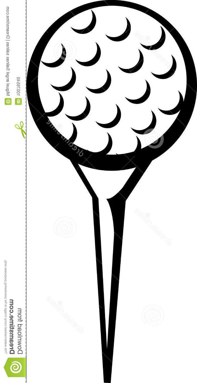 670x1300 Best Free Golf Ball Tee Vector Illustration Image