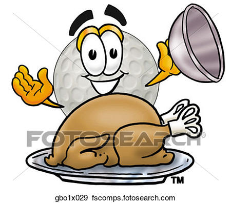 450x396 Clip Art Of Golf Ball With Turkey Gbo1x029