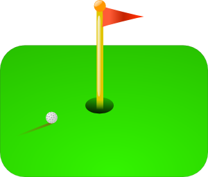 300x256 Golf Flag + Ball Clip Art