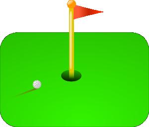 300x256 Golf Flag + Ball Clip Art