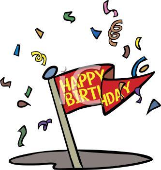 333x350 Happy Birthday Animated Golf Ball Clipart, Free Happy Birthday