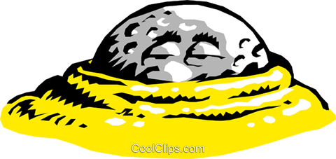 480x227 Cartoon Golf Ball Royalty Free Vector Clip Art Illustration
