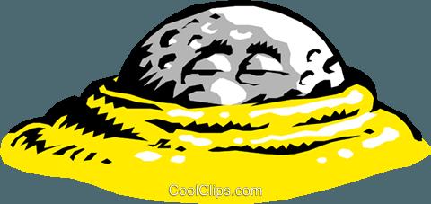 480x227 Cartoon Golf Ball Royalty Free Vector Clip Art Illustration