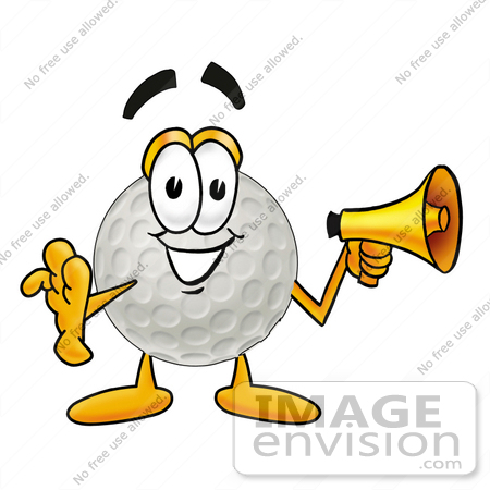 450x450 Cliprt Graphic Of Golf Ball Cartoon Character Holding