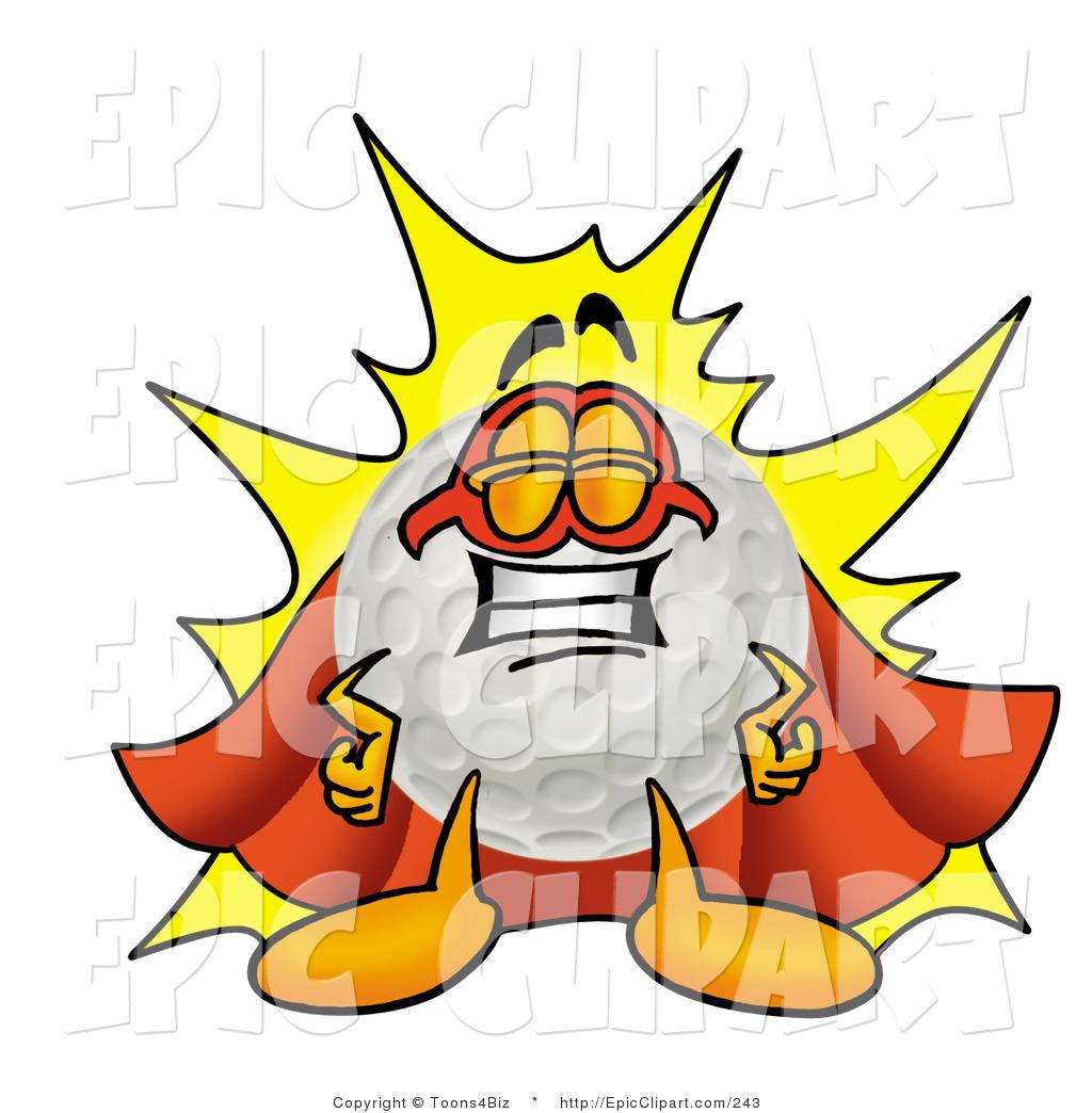 1024x1044 Clip Art Of A Proud Golf Ball Mascot Cartoon Character Dressed As